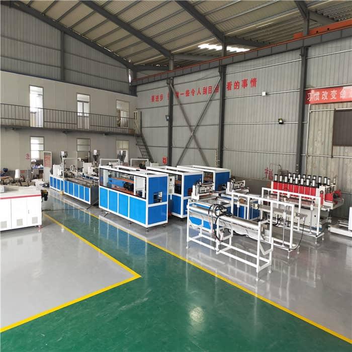 轻质PVC竹木墙板生产线